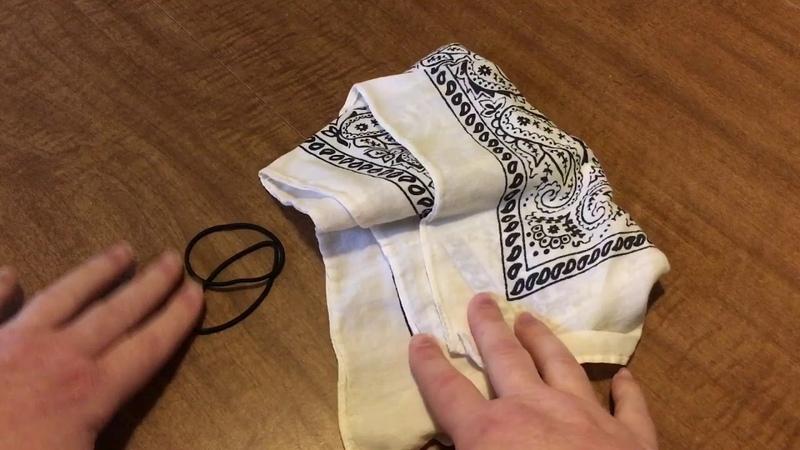Easy No Sew DIY Face Mask 😷 Bandana And 2 Ponytail Holders