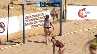 Uruguay vs Chinese Taipei   Preliminary Round   2018 IHF Women's Beach Handball World Championship