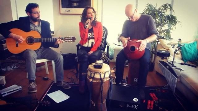 Jeroen de Rijk on Instagram udu amsterdam livingroom recording livemusic music gigs musicianslife percussion percussionist trio guita