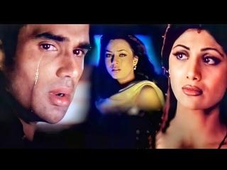 Tum Dil Ki Dhadkan Mein - 4K Video   Sunil Shetty, Shilpa Shetty & Mahima   90's Bollywood Sad Songs