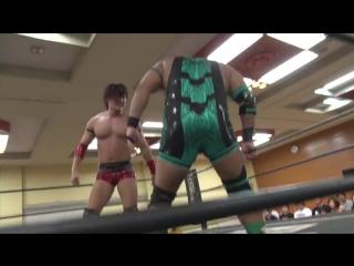 Daisuke Sasaki, Soma Takao, Tetsuya Endo vs. Jason Kincaid, Mizuki Watase, Shigehiro Irie (DDT - Road To Ryogoku)