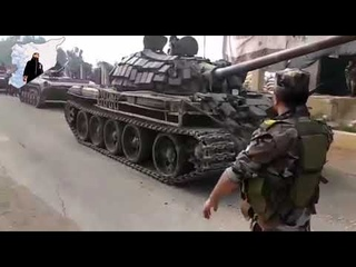 SYRIAN ARMY'S FOOTAGE AT THE ENTRANCE OF DARAA CITY
