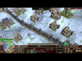 Age Of Empires 3 - The Asian Dynasties - Team game High Level 2v2 Brits/German vs Brits/Russia