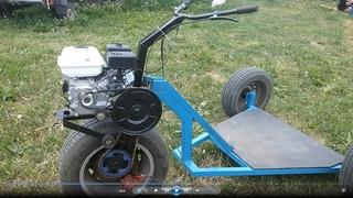 Такого САМОКАТА Вы не видели! Самодельный, трёхколёсный с мотором.