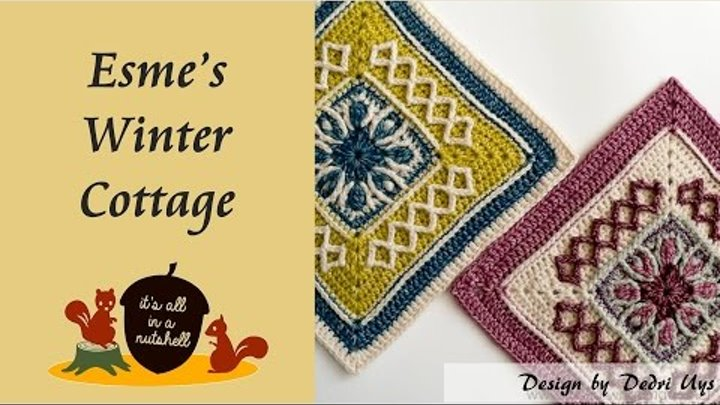 Esme's Winter Cottage Crochet Square