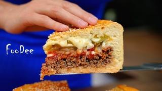 """Попробовав этот мясной пирог, навсегда забудете о Макдональдсе! Пирог """"Чизбургер"""""""