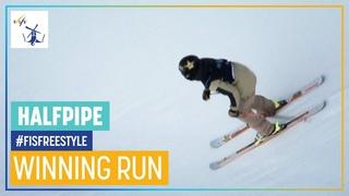 Aaron Blunck   1st place   Men's Halfpipe   Aspen   FIS Freestyle Skiing