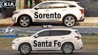 2021 KIA Sorento vs Hyundai Santa Fe, Sorento vs Santa Fe - SUV compare
