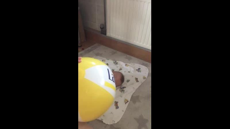 Люша с мячом июль 2019