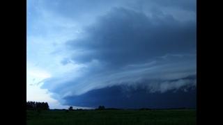 Зарождение смерча - ДВА облака-воронки (funnel clouds)  г.Юрга Кемеровской обл