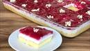 Турецкий десерт с бисквитом молочно сметанным кремом гранатовым соусом YAPIMI KOLAY LEZZETİ ŞAHANE ✅NARLI BORCAM PASTASI
