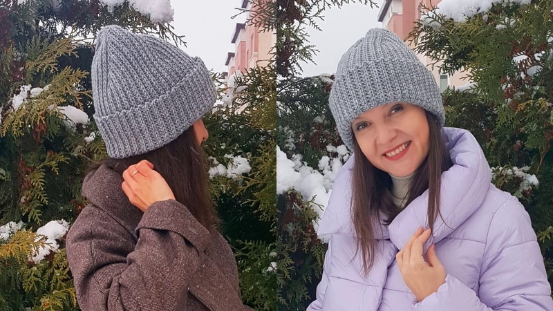 ШАПКА БИНИ вяжем КРЮЧКОМ фасон 2020 2021 модная макушка
