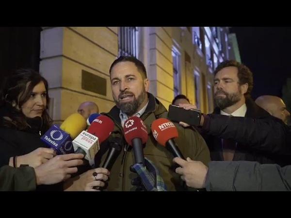 Abascal muestra su vergüenza a Guaidó por la reunión vergonzosa y clandestina de Abalos y Delcy