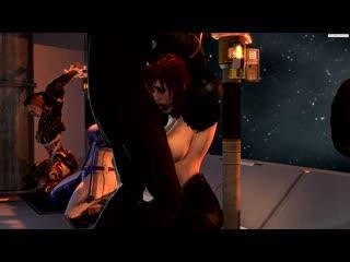 Rule 34 - 3d animated asari asphyxiation breasts breasts outside commander shepard cum death deepthroat fellatio female femshep