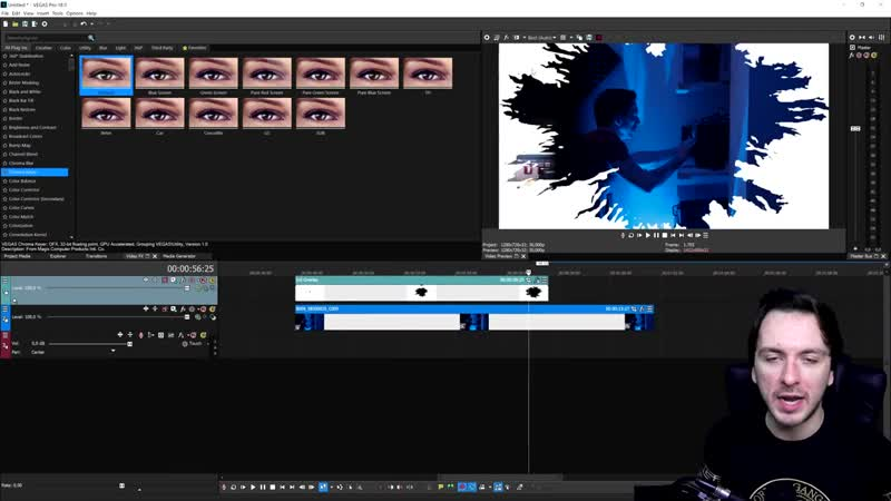 JustAlexHalford VEGAS Pro 18 How To Create An Ink Transition Tutorial