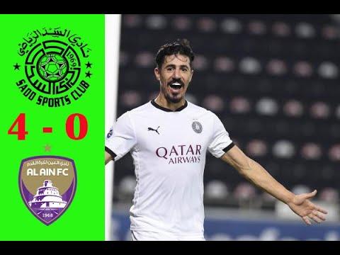ملخص مباراة السد القطرى والعين الاماراتى 4 -