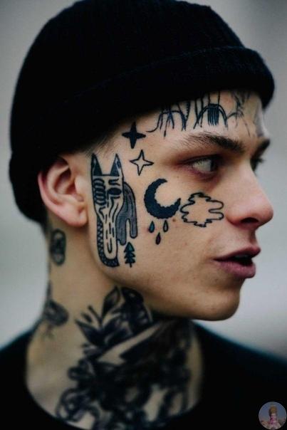 Татуировки на лице  метка смелости или дань моде