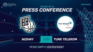 LIVE 🔴 Nizhny Novgorod v Türk Telekom - Press Conference | Basketball Champions League 2020/21