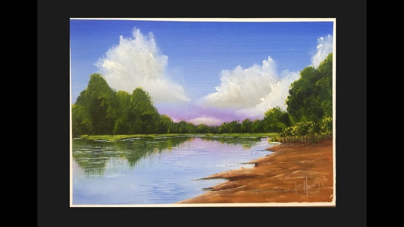 175. How to paint a water scenery (acrylic)