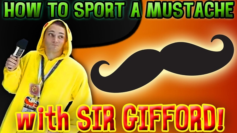 How to Sport a Mustache with Sir Robert J Gifford III Anime Expo 2012