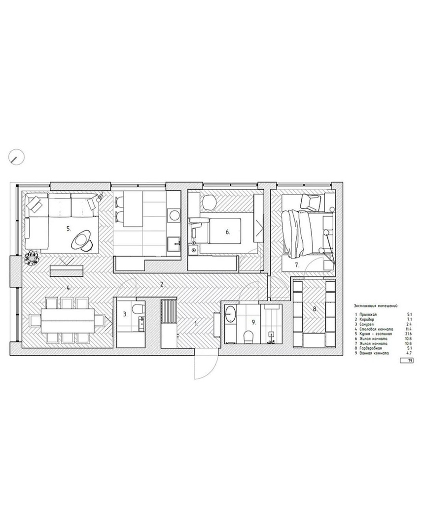 Фотографии реализованного проекта от SHUBOCHKINI architects.