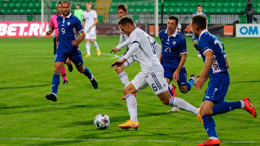 Молдова - Россия, 0:0. Денис Черышев