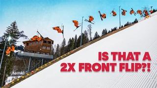 How To Double Frontflip A Ski Jump w/ Fabian Bösch | Red Bull Snow