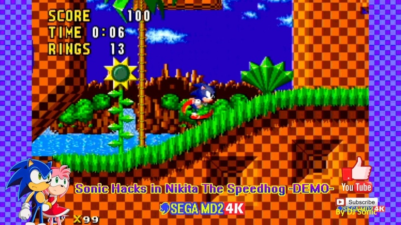 Sonic Hacks in Nikita The Speedhog DEMO Sega Genesis