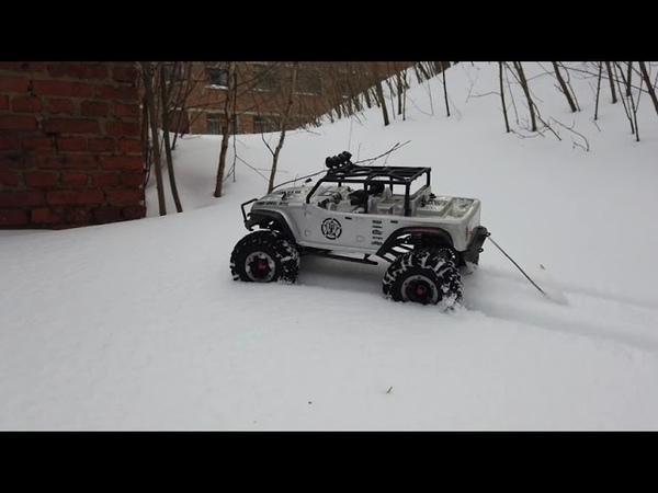Рассекаем по пухляку на Jeep Rubikon RemoHobby