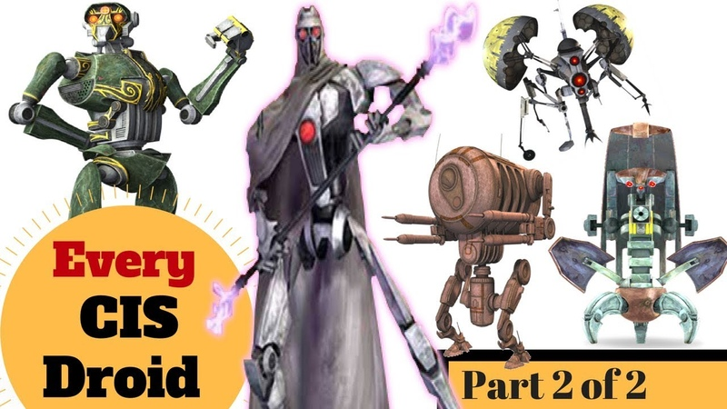 Every Infantry Droid in the CIS Army All Separatist Droids Part 2 of 2 Star Wars Clone Wars