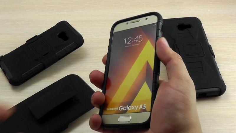 ОБЗОР Противоударный Чехол Накладка для Samsung Galaxy A7 SM A720 2017 года с Подставкой и Кобурой