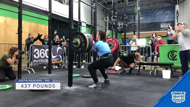 Men s 1 Rep Max Front Squat Highlights 2020 CrossFit Games Event 2