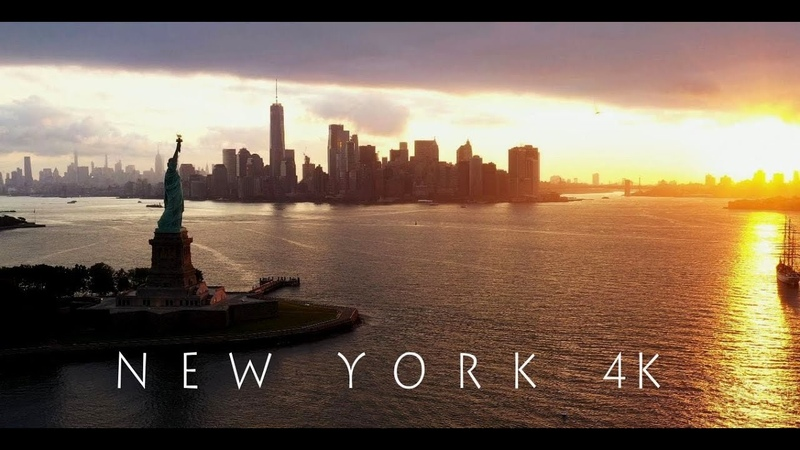 NEW YORK - NEW YORK - in 4K UHD Aerial View - Before the Corona-Crisis hit the Big Apple