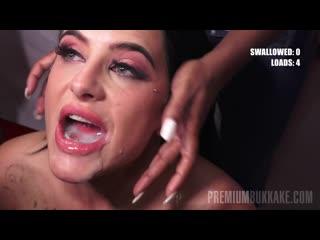 Кончают в рот секси брюнетке., Barbie Esm #2 / Bukkake Gangbang, Blowjobs, Cumshots, Swallow Hardcore