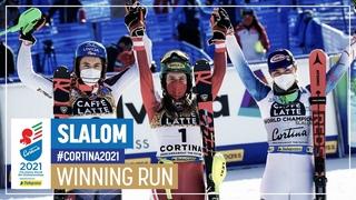 Katharina Liensberger   Gold   Women's Slalom   2021 FIS World Alpine Ski Championships