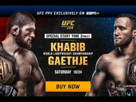 Khabib Nurmagomedov vs Justin Gaethje Full Fight Highlights HD UFC 254