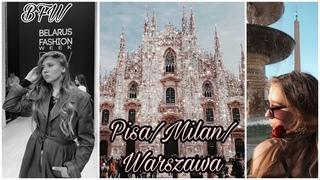 VLOG:part 2.Итальянские каникулы и неделя моды.Pisa/Milan/Warsawa/BFW