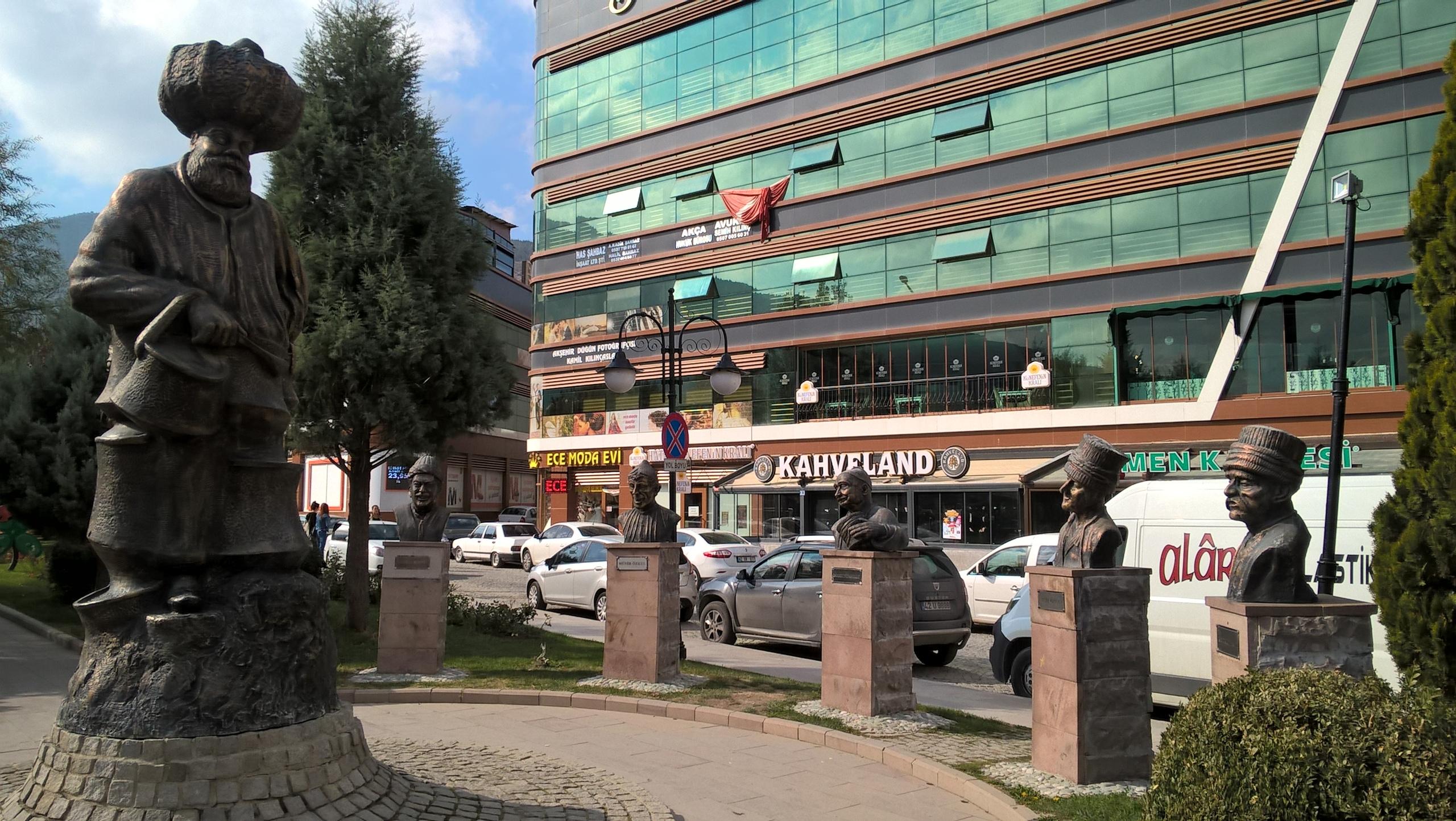 Памятник Насретдину Ходже в Акшехир
