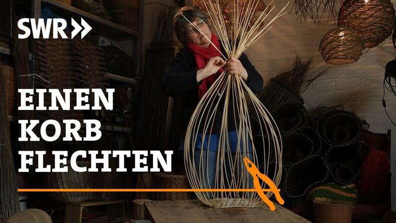 Wie man einen schönen schiefen Korb flechtet SWR Handwerkskunst