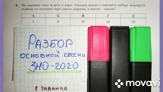 Разбор 8 задания из билета ЗНО-2020 по математике