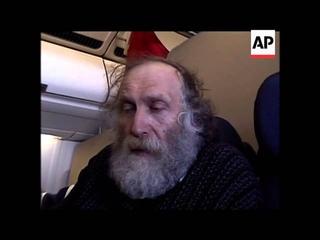 Bobby Fischer speaking during flight to Denmark, en route to Iceland