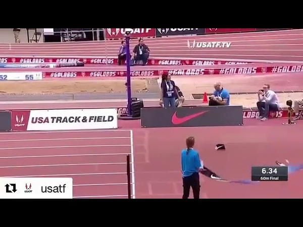 Christain Coleman 60m in 6.34 world record 2018