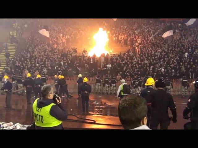 Crvena Zvezda - Partizan Beograd 2013.11.02. Grobari burned Marakana 12 mins long video VI.