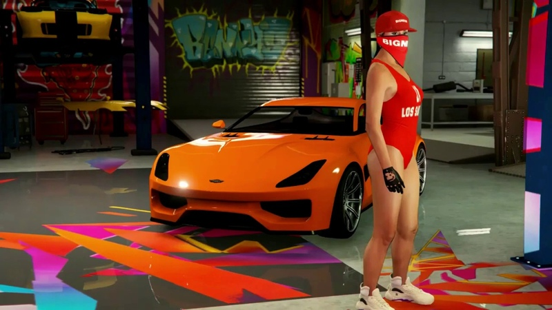 GTA V online best female character 2019 off white logo Duckwrth Start A Riot music video xbox one