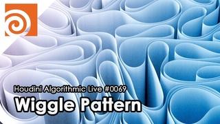 Houdini Algorithmic Live #069 - Wiggle Pattern with Vellum