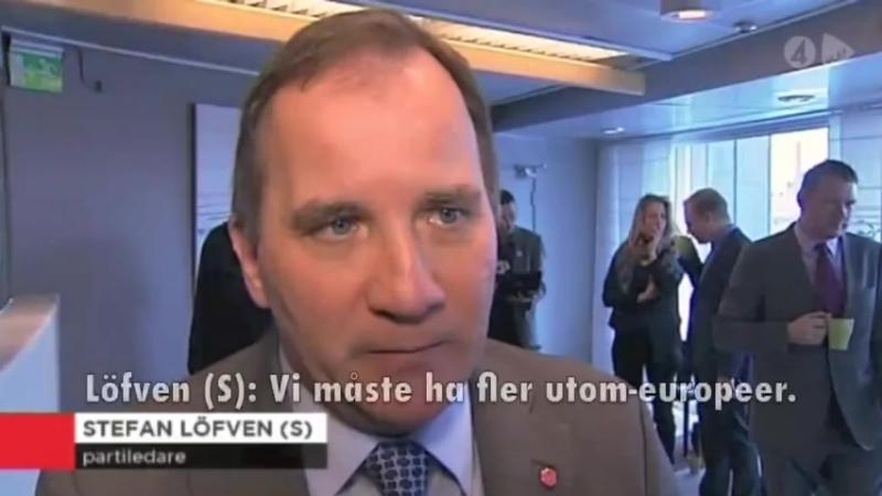 - 2013 - Mona Sahlin:Det är de vita der er problemet / Löfven: Vi måste ha fler utom-europeer