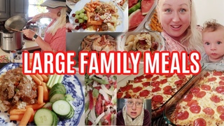 LARGE FAMILY MEALS OF THE WEEK! BIG FAMILY CROCKPOT DINNERS, Cabbage Roll Casseroles, mega & lots!