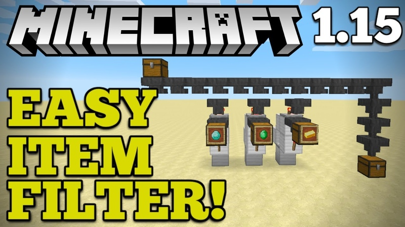 [EASY] Automatic Item Filter Storage | Minecraft 1.15 | How To Auto-Sort Items