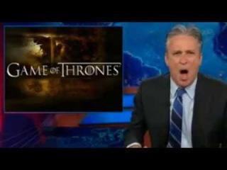 Jon Stewart EPIC One liner Game of thrones 'Red Wedding' joke - TOTALLY Nailed it !!