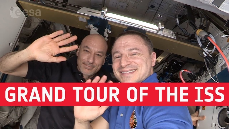 Grand tour of the International Space Station with Drew and Luca Single take